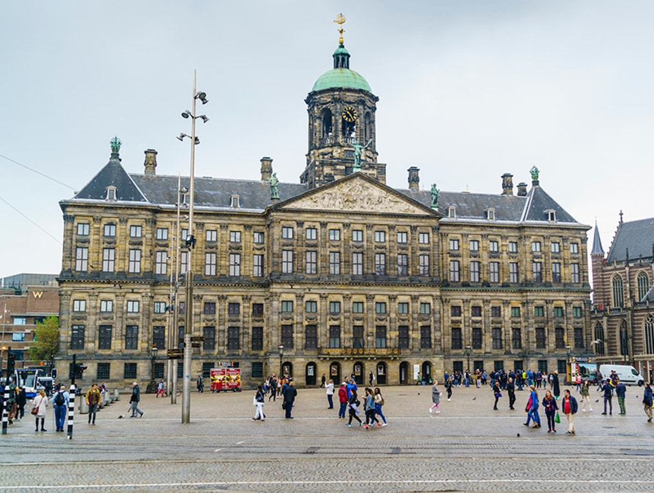 Dam Square Amsterdam  The Netherlands