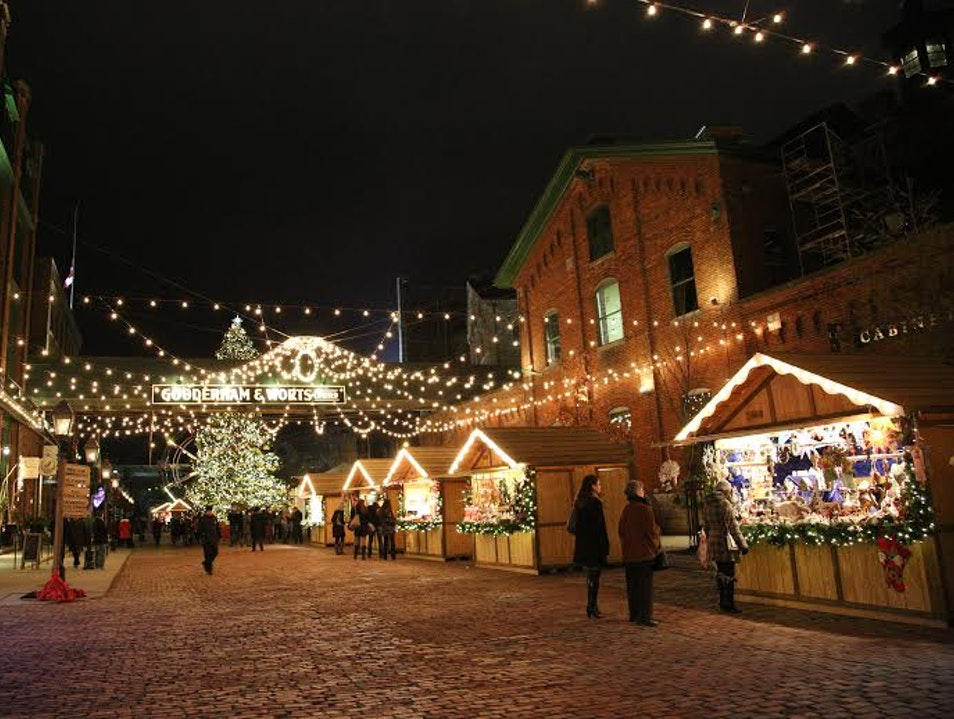 Toronto Christmas Markets in the Distillery District  Toronto  Canada