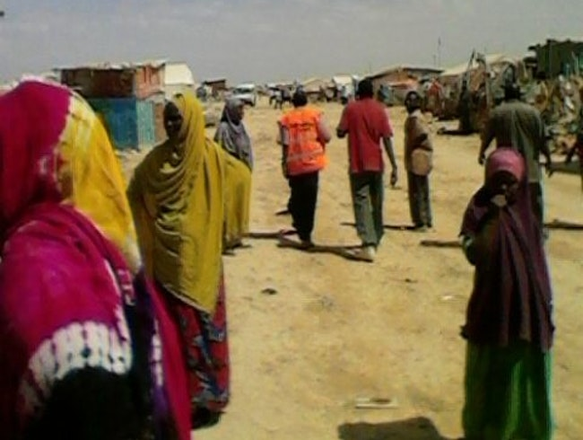 Inside an IDP camp near Mogadishu