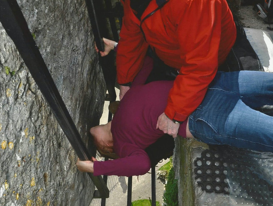 Kissing the Blarney Stone  Blarney  Ireland