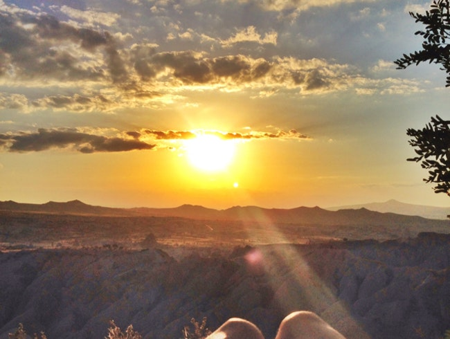 Perfect End to a Day in Cappadocia
