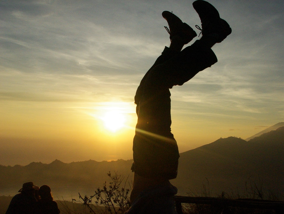 Handstand on Mount Batur Susut  Indonesia
