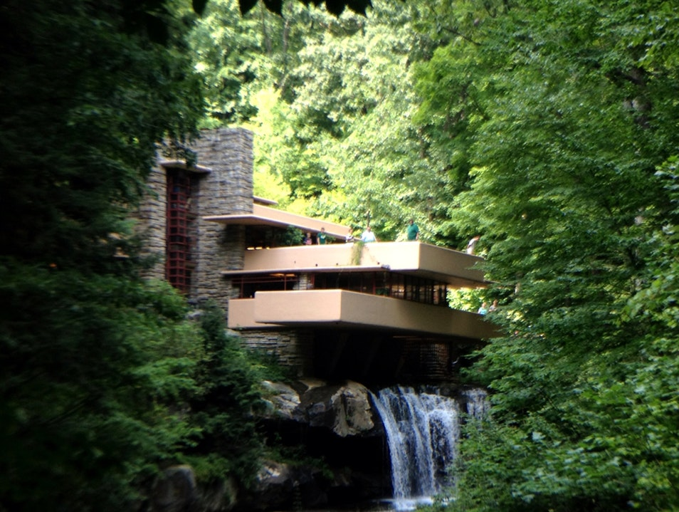Modern Architecture Floating Above Nature Mill Run Pennsylvania United States