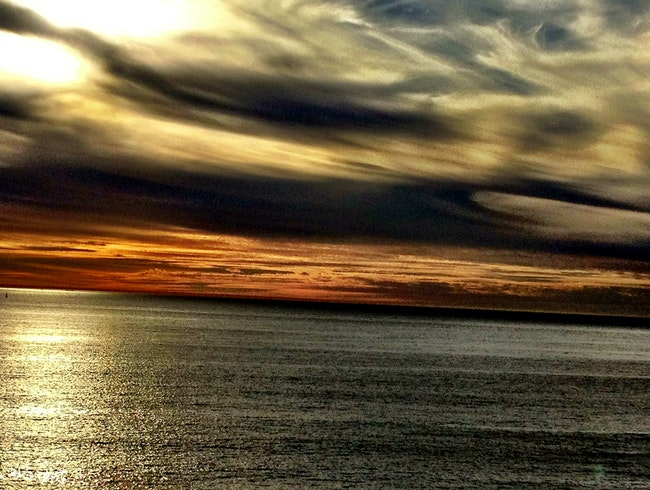 Enjoying the spectacular clouds over the pacific in Rancho Palos Verdes