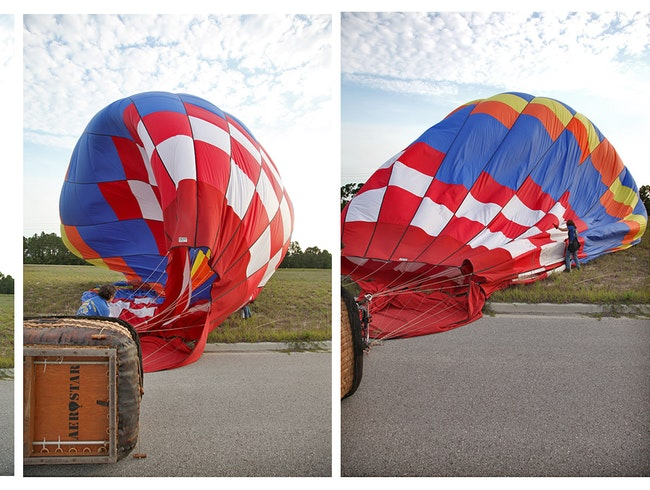 Up, up and away in a hot air balloon!