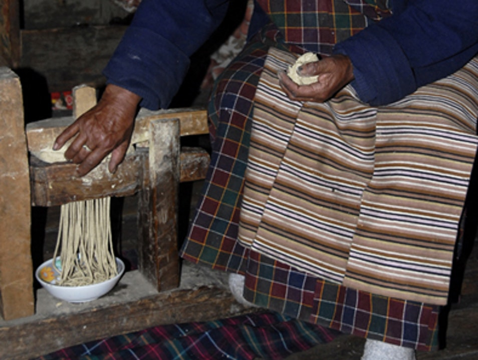 Noodle Making with Grandma Ura  Bhutan