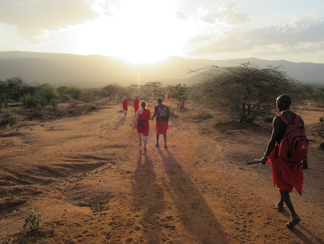 Kenyan glow; bathed in light by community