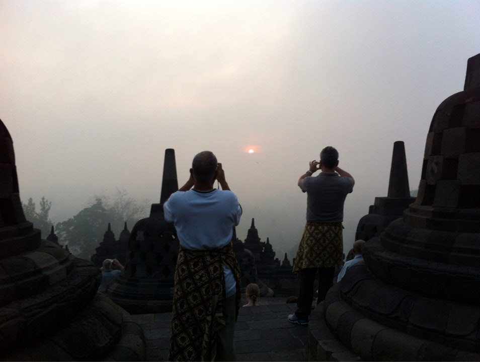 Sunrise at Amazing Borobudur  Borobudur  Indonesia