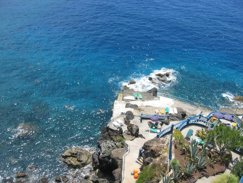 Madeira Lidos and Crystal Blue Atlantic Waters Canico  Portugal