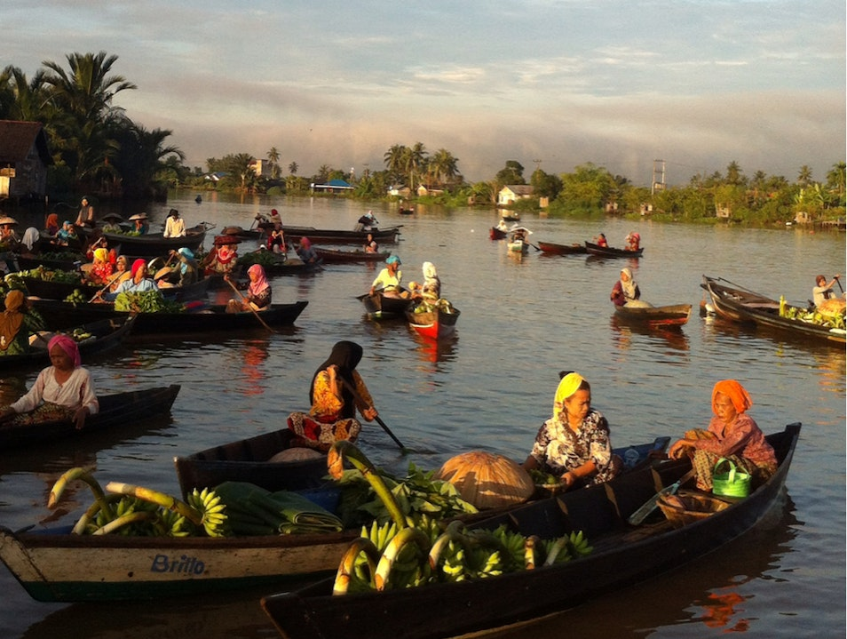 Banjarmasin Traditional Floating Market Banjarmasin  Indonesia