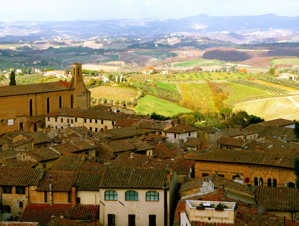 A 360-degree view of Tuscany San Gimignano  Italy