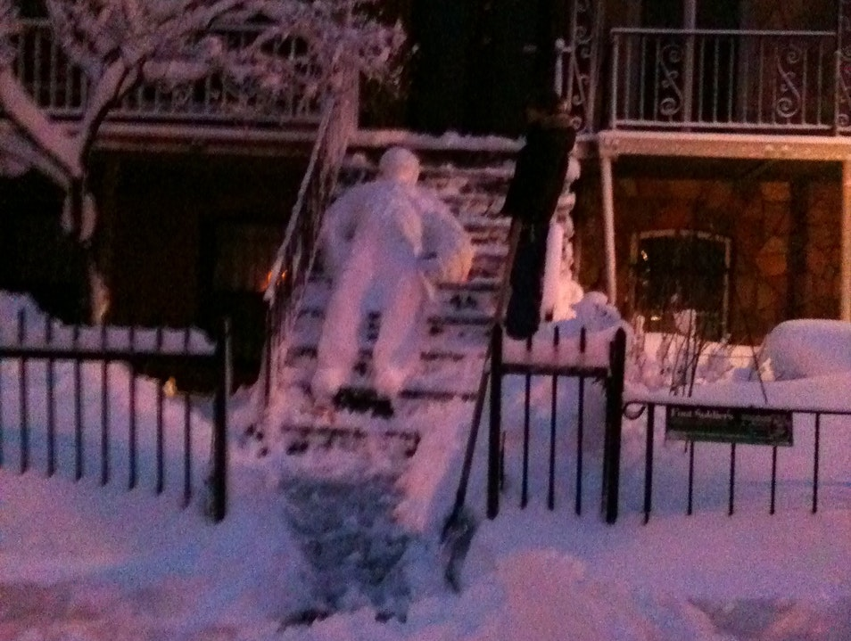 This is what a snowman in NY looks like - we do things differently New York New York United States
