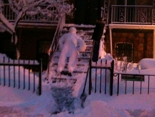 This is what a snowman in NY looks like - we do things differently