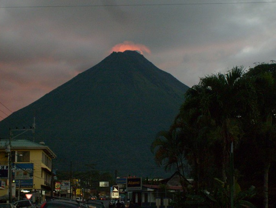 The glow of La Fortuna