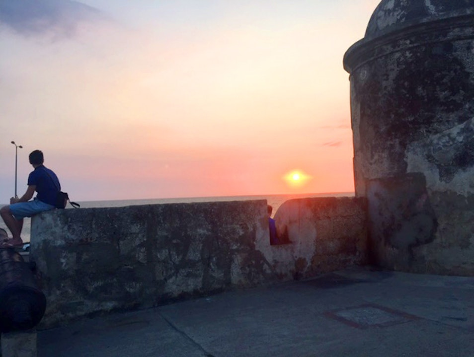 A sunset you won't forget Cartagena  Colombia