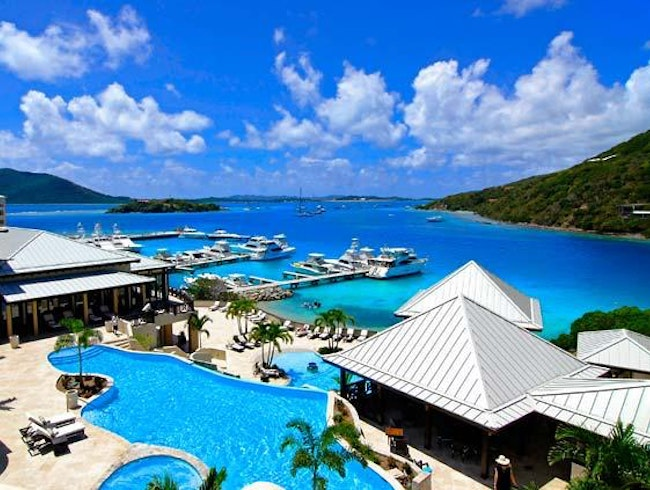 View from upper pool at Marriott's Autograph Collection, Scrub Island Resort