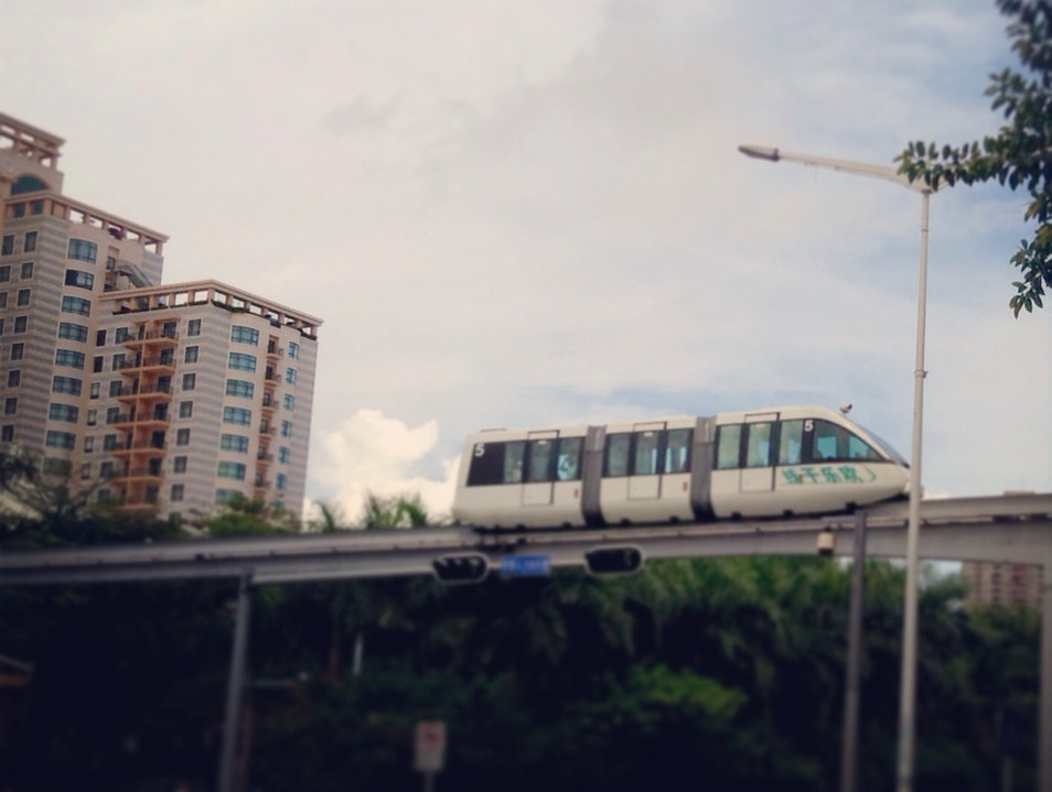 Hooray for the Monorail! Shenzhen  China