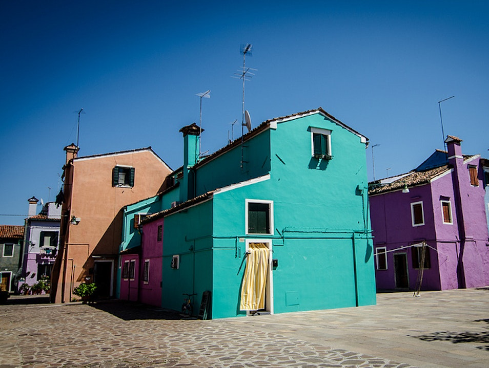 Burano is ready for its close-up! Venice  Italy