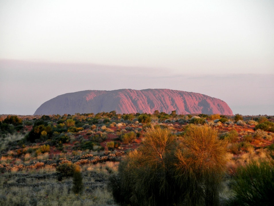 Sound of Silence in the Australian Outback Uluru  Australia