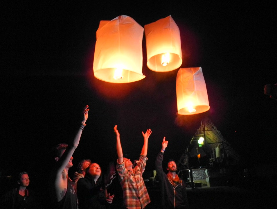 Release Lanterns into the Night Sky Pai  Thailand