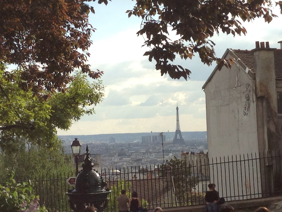 Seeing Paris from Hilly Montmartre