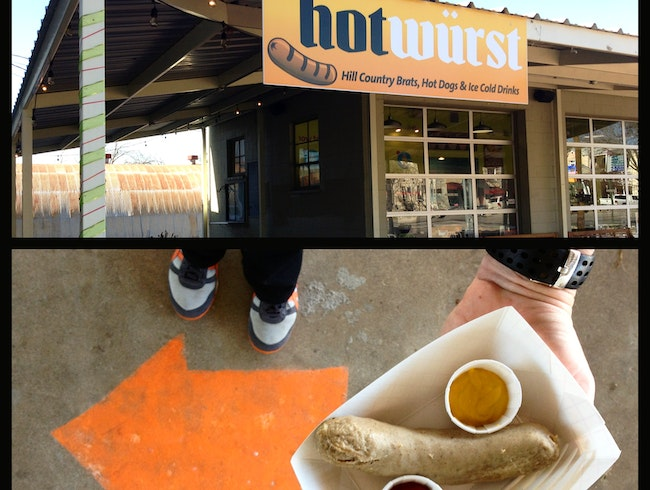 Make Your Lunch The Best: Head to 'hotwurst'.