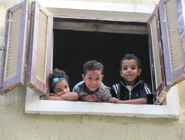 Children in Cairo