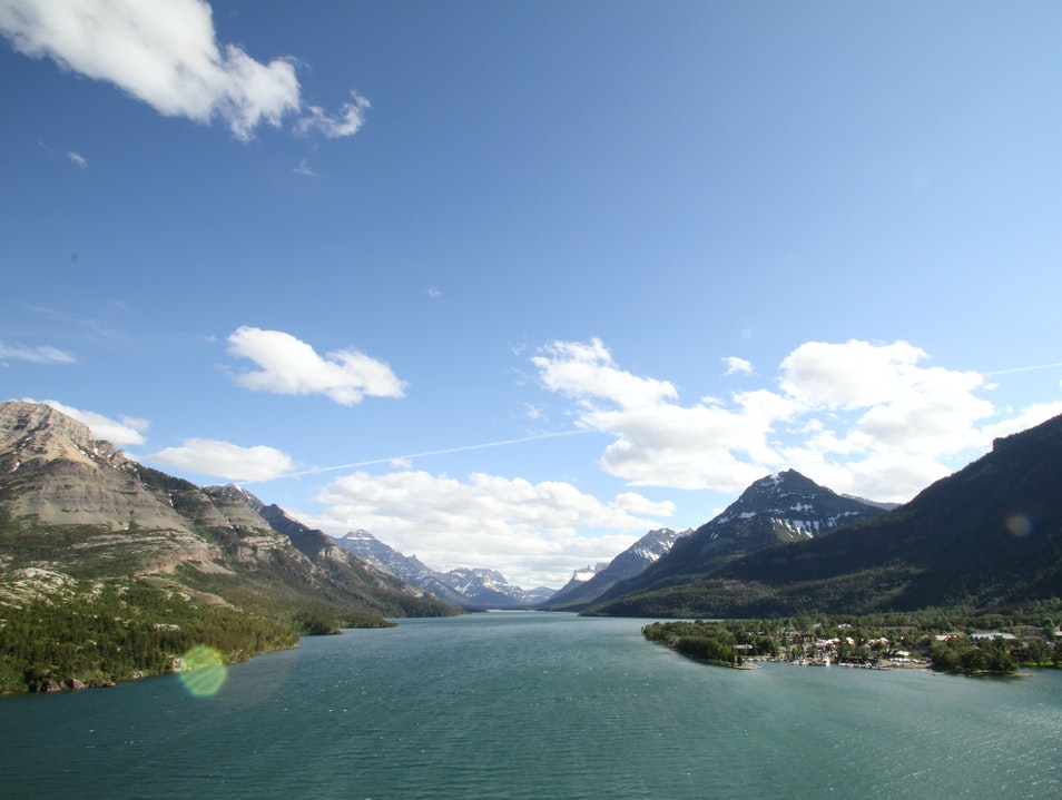 View from Prince of Wales Hotel, Waterton Waterton Park  Canada