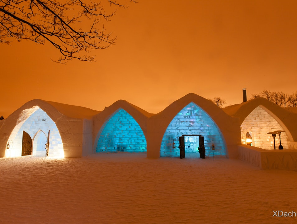 A Cool Ice Hotel Quebec  Canada