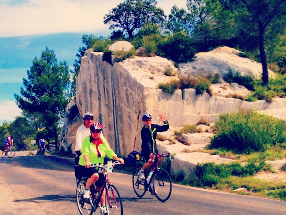 Cycling through the Alpilles to Les Baux de Provence  Les Baux-de-Provence  France