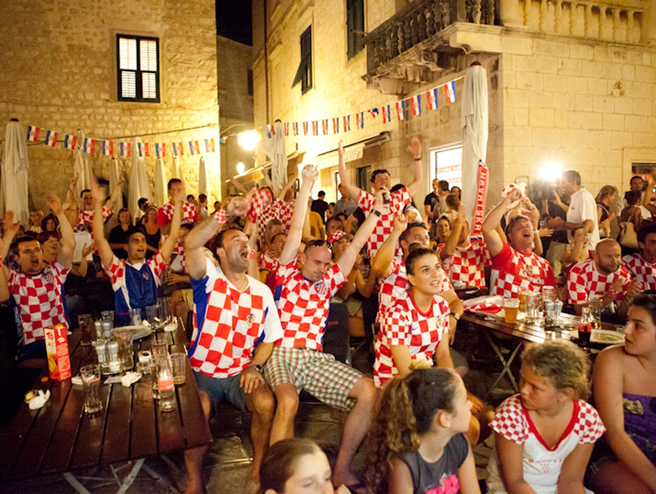 Watch football with the locals Dubrovnik  Croatia