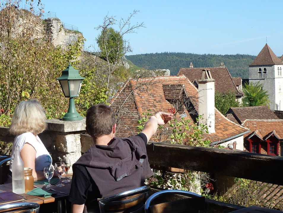 Food With a View: Lou Bolat Saint-Cirq-Lapopie  France