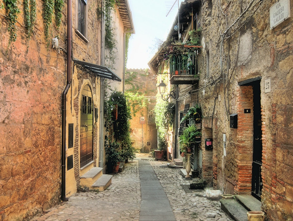 Capena, medieval village in the unspoilt Lazio countryside Capena  Italy
