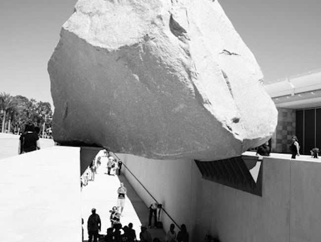 Levitating Mass at LACMA