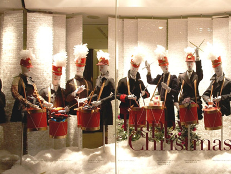 Christmas Windows at Holt Renfrew and The Bay