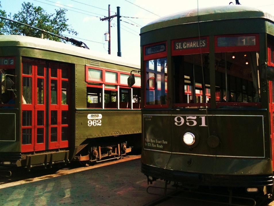 Riding Old Streetcars Past Historic New Orleans Homes