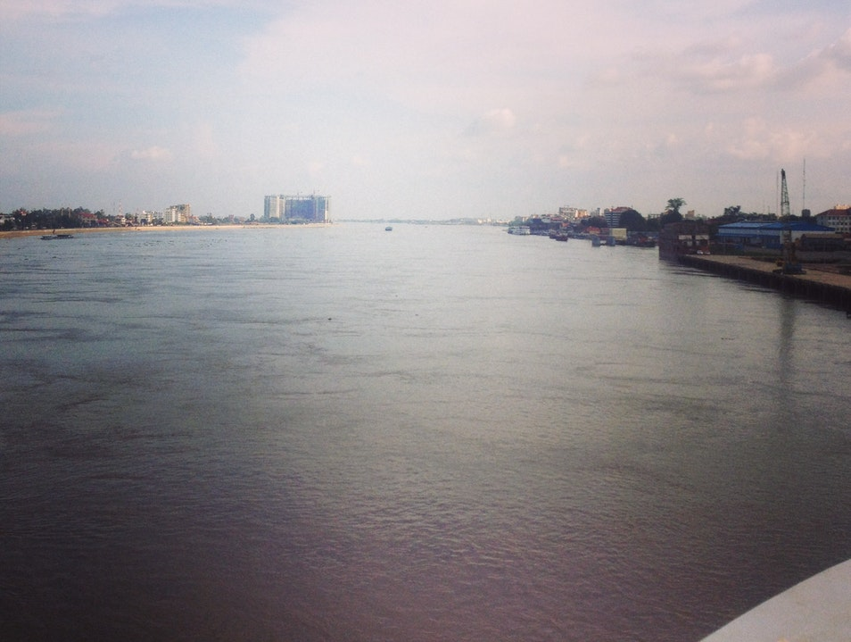 Running along the Mekong. Phnom Penh  Cambodia