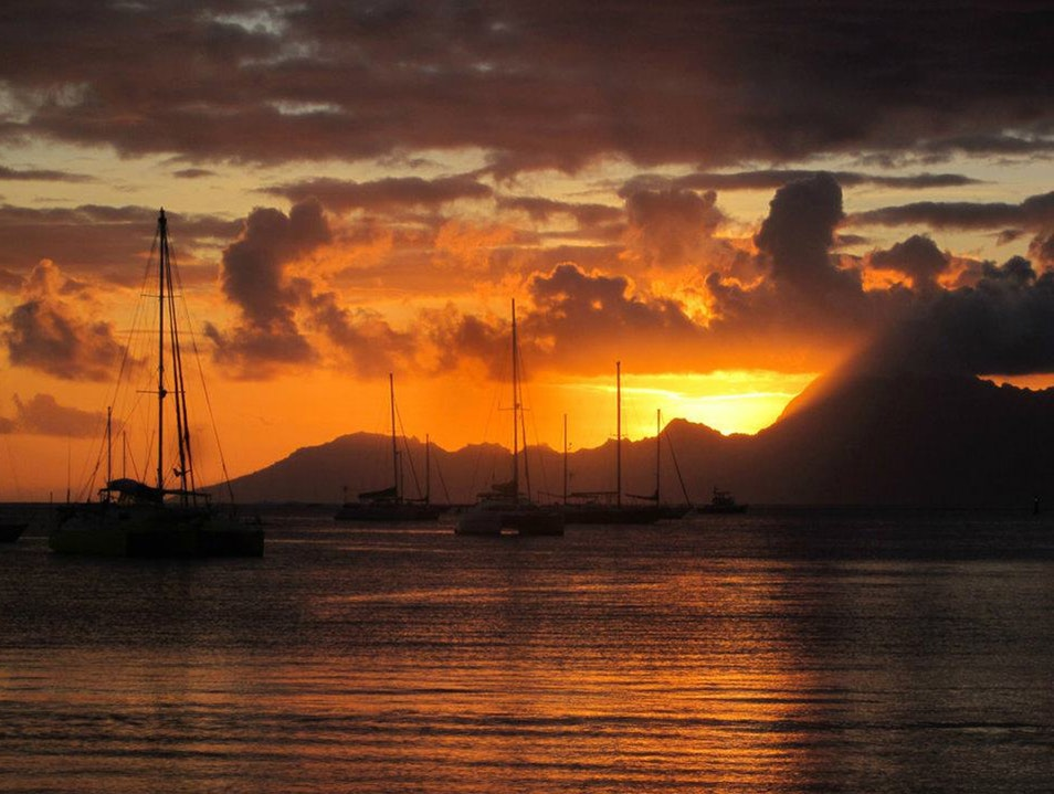 Sunset, Tahitian Style Papeete  French Polynesia