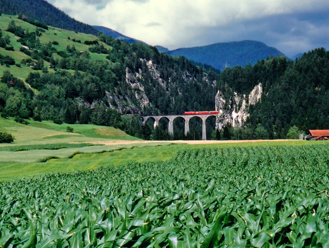 Chasing the Train out of the Alps