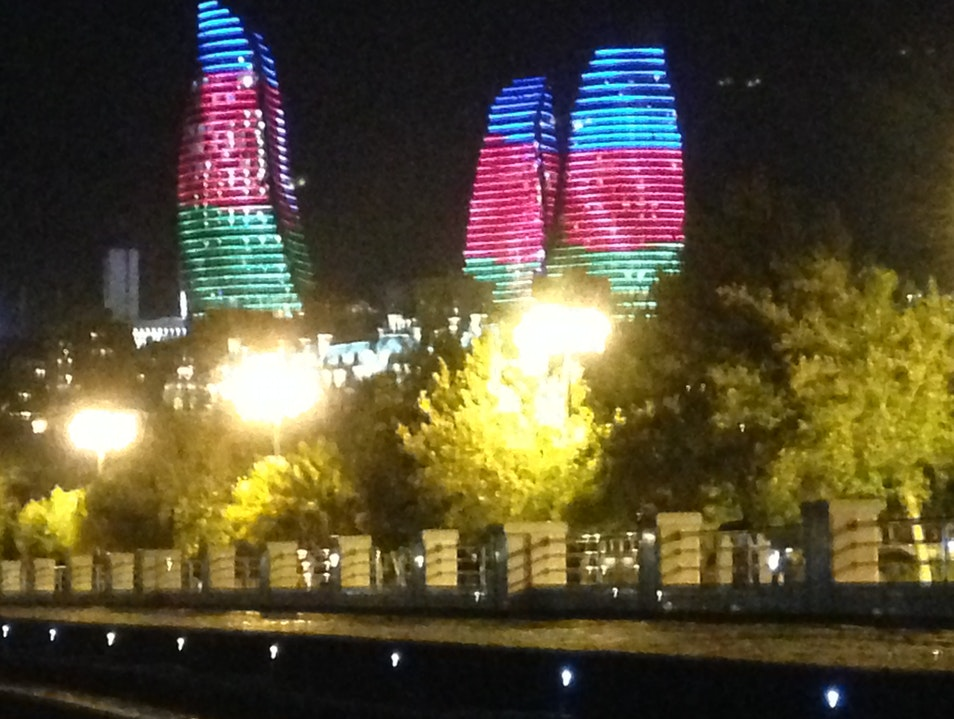 Be wowed by the Flame Towers Baku  Azerbaijan