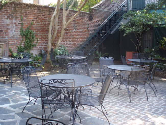 The Courtyard at Bayona Restaurant