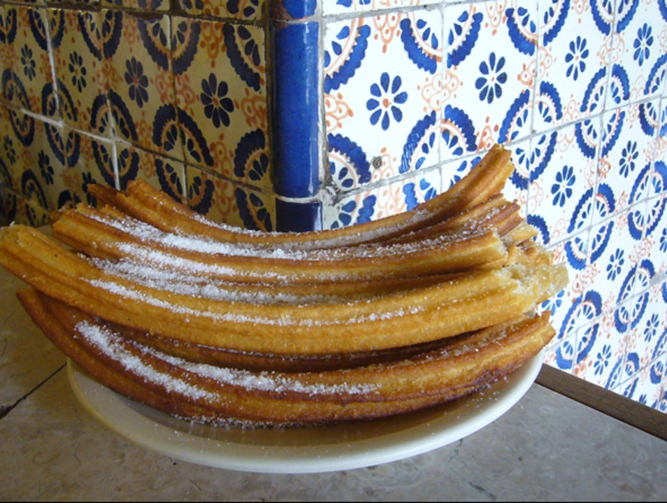 Churros and Chocolate Anytime You Want Them Mexico City  Mexico