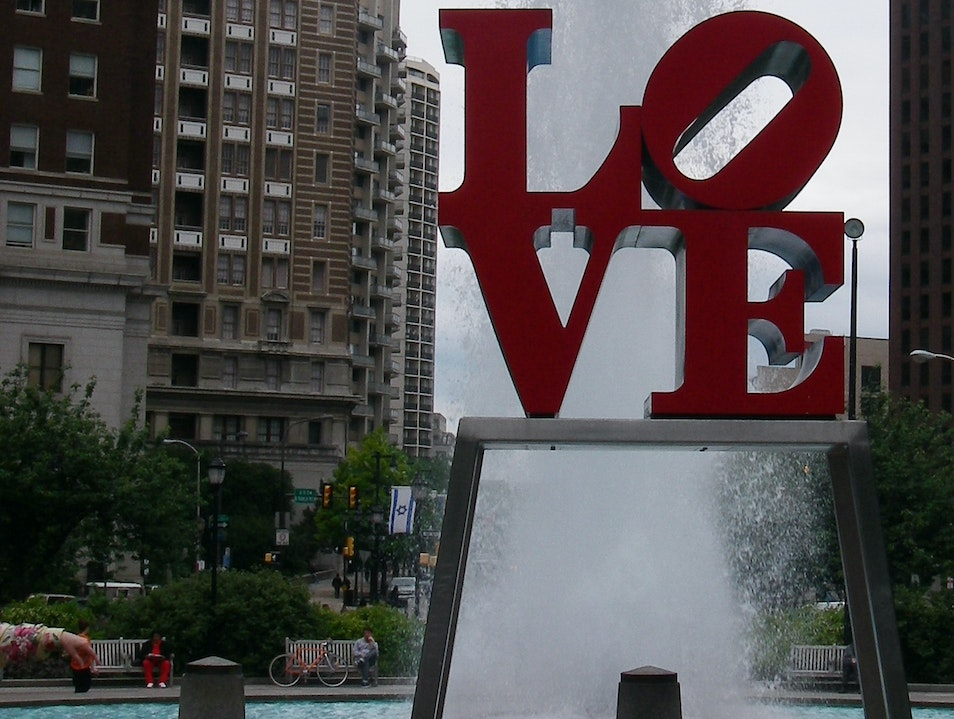 Get your picture taken with LOVE Philadelphia Pennsylvania United States