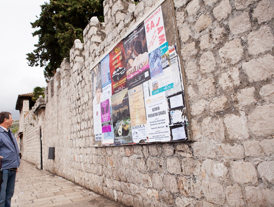 Check the bulletin boards Dubrovnik  Croatia