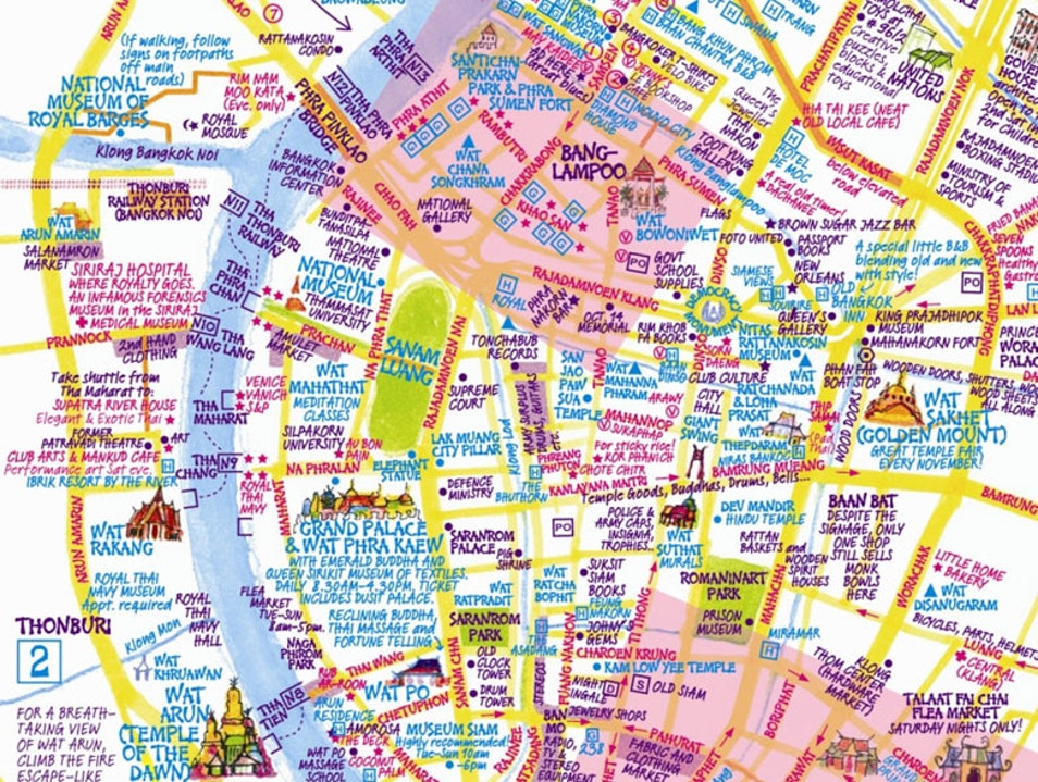 Buy a Nancy Chandler Bangkok Map Bangkok  Thailand