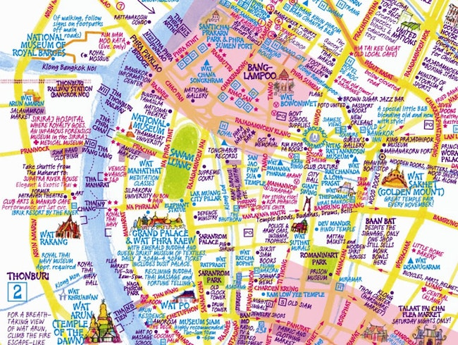 Buy a Nancy Chandler Bangkok Map