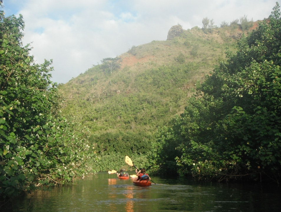 Kayaking the Wailua River in Kauai Hanalei Hawaii United States
