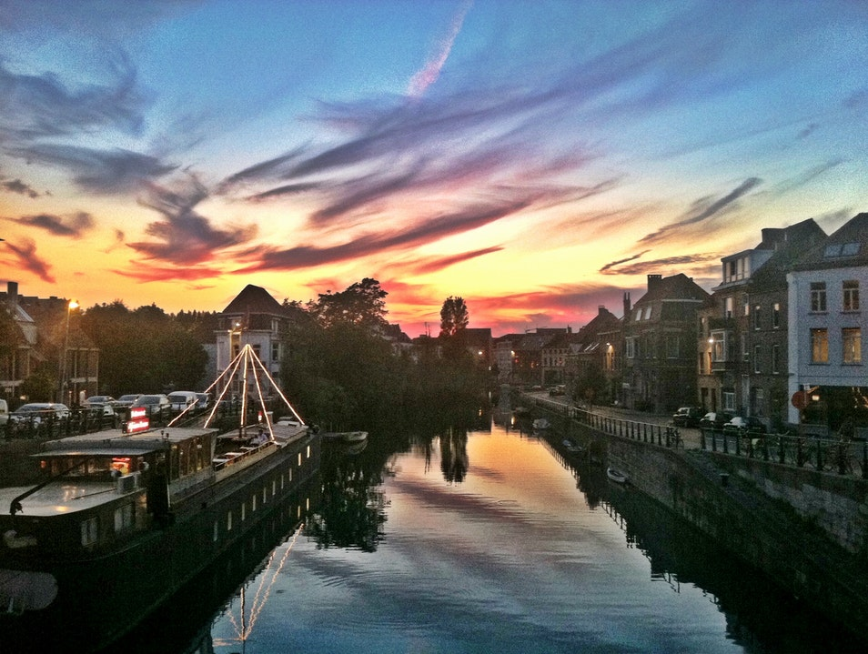 Sunset over Ghent, Belgium
