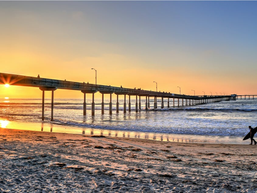 A great day in San Diego often begins—or ends—with a surf.