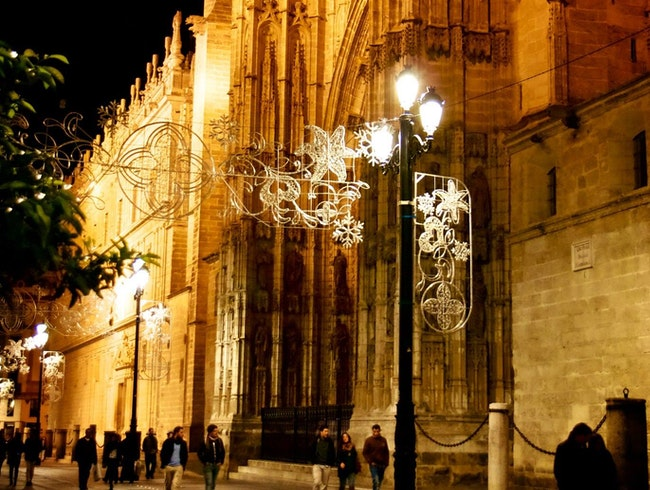 A Spanish Cathedral By Night
